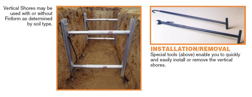 Vertical Shores - Trench Shoring Safety Equipment