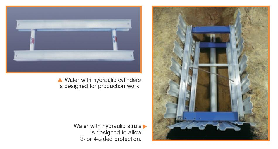 Hydraulic Trench Shoring - Waler Systems
