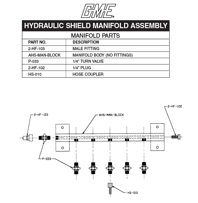 MANIFOLD PARTS DRAWING